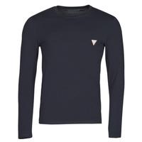 Clothing Men Long sleeved tee-shirts Guess CN LS CORE TEE Marine