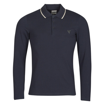 Clothing Men Long-sleeved polo shirts Guess OLIVER LS POLO Marine