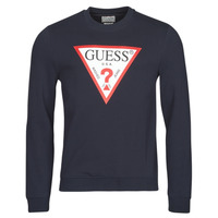 Clothing Men Sweaters Guess AUDLEY CN FLEECE Marine