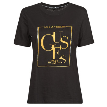 Clothing Women Short-sleeved t-shirts Guess SS CN SIMONNE TEE Black