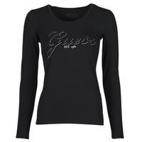 Clothing Women Long sleeved tee-shirts Guess LS CN RAISA TEE Black