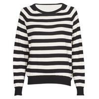 Clothing Women Jumpers Guess IRENE RN LS SWTR Black / White