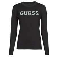 Clothing Women Jumpers Guess ELVIRE RN LS SWTR Black