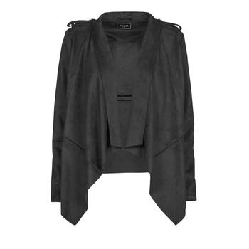 Clothing Women Leather jackets / Imitation leather Guess SOFIA JACKET Black