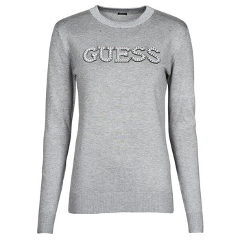 Clothing Women Jumpers Guess ELVIRE RN LS SWTR Grey