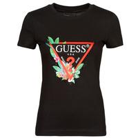 Clothing Women Short-sleeved t-shirts Guess SS CN NORA TEE Black