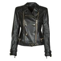 Clothing Women Leather jackets / Imitation leather Guess OLIVIA MOTO JACKEY Black