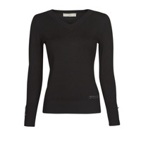 Clothing Women Jumpers Guess GENA VN LS SWTR Black