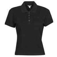 Clothing Women Short-sleeved polo shirts Guess ES SS GUESS LOGO PIQUE POLO Black