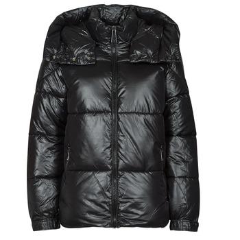 Clothing Women Duffel coats Guess ELIZA JACKET Black