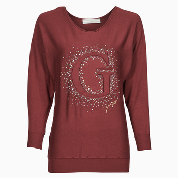 Clothing Women Jumpers Guess ABBY RN BATSLEEVE SWTR Red