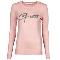 Clothing Women Jumpers Guess ADA RN LS SWTR Pink