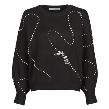 Clothing Women Jumpers Guess GINNY RN LS SWTR Black