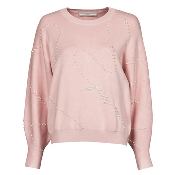 Clothing Women Jumpers Guess GINNY RN LS SWTR Pink