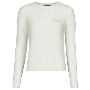 Clothing Women Jumpers Guess CANDACE RN LS SWTR White