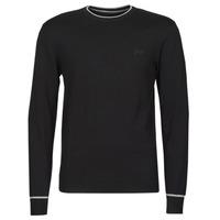 Clothing Men Jumpers Guess KEVIN LS CN SLIM FIT SWTR Black