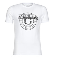 Clothing Men Short-sleeved t-shirts Guess DOUBLE G CN SS TEE White