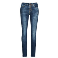 Clothing Women Skinny jeans Guess 1982 EXPOSED BUTTON Blue / Dark