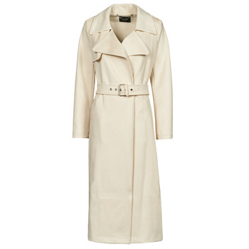 Clothing Women Trench coats Guess BARAA TRENCH Beige