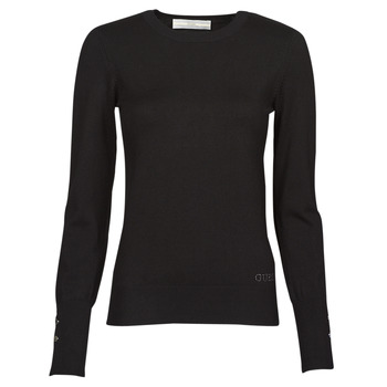 Clothing Women Jumpers Guess ELINOR RN LS SWTR Black