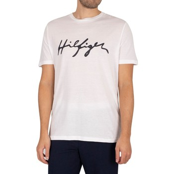 Clothing Men Sleepsuits Tommy Hilfiger Graphic T-Shirt white