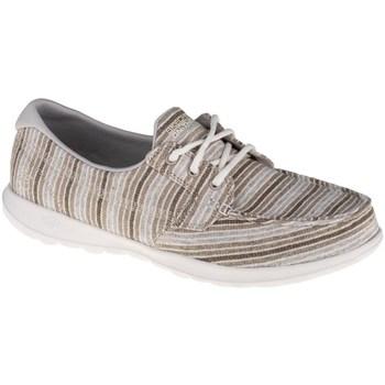 Shoes Women Low top trainers Skechers GO Walk Lite EL Mar Beige