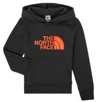 Clothing Boy Sweaters The North Face DREW PEAK HOODIE Black