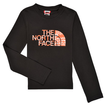 Clothing Boy Long sleeved tee-shirts The North Face EASY TEE LS Black