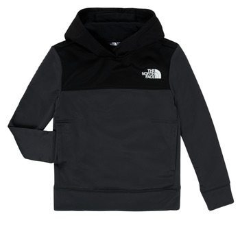 Clothing Boy Sweaters The North Face SURGENT HOODIE Black / Grey