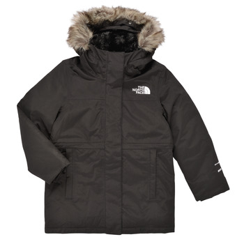 Clothing Girl Parkas The North Face ARCTIC SWIRL PARKA Black