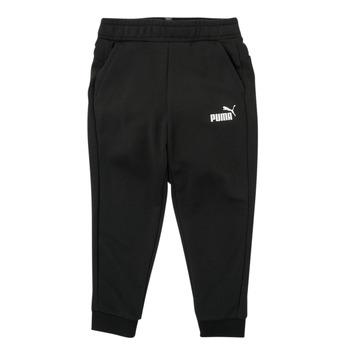 Clothing Boy Tracksuit bottoms Puma ESSENTIAL SLIM PANT Black
