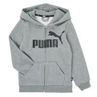 Clothing Boy Sweaters Puma ESSENTIAL BIG LOGO FZ HOODIE Grey
