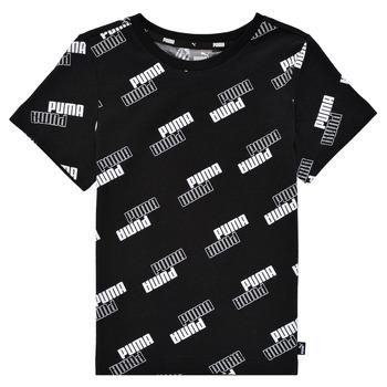 Clothing Boy Short-sleeved t-shirts Puma PUMA POWER AOP TEE Black