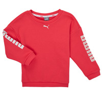 Clothing Girl Sweaters Puma ALPHA CREW SWEAT Pink