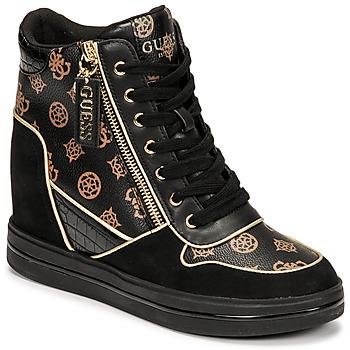 Shoes Women Hi top trainers Guess NANGY Black