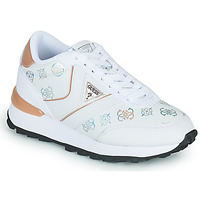Shoes Women Low top trainers Guess SAMSIN4 White / Pink