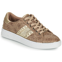 Shoes Women Low top trainers Guess BEVLEE Brown / Gold