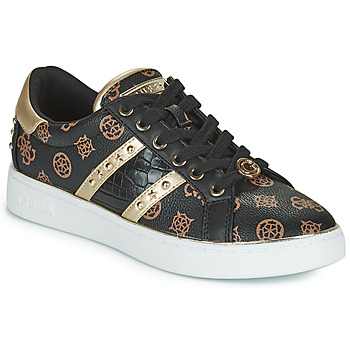 Shoes Women Low top trainers Guess BEVLEE Black / Gold