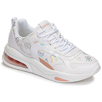 Shoes Women Low top trainers Guess FEVER White / Silver / Beige