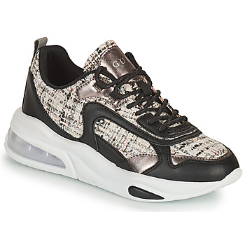 Shoes Women Low top trainers Guess FEVER Black