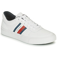 Shoes Men Low top trainers Tommy Hilfiger CORE CORPORATE STRIPES VULC White