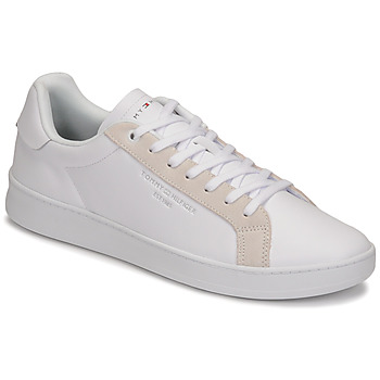 Shoes Men Low top trainers Tommy Hilfiger CUPSOLE COURT LEATHER White