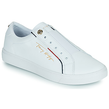 Shoes Women Low top trainers Tommy Hilfiger SLIP ON TOMMY HILFIGER CUPSOLE White