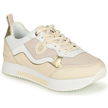 Shoes Women Low top trainers Tommy Hilfiger MATERIAL MIX ACTIVE CITY SNEAKER Beige / Gold