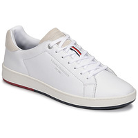 Shoes Men Low top trainers Tommy Hilfiger RETRO TENNIS CUPSOLE LEATHER White