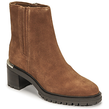Shoes Women Mid boots Tommy Hilfiger TH OUTDOOR MID HEEL BOOT Cognac