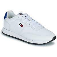 Shoes Men Low top trainers Tommy Jeans RETRO LEATHER TJM RUNNER White