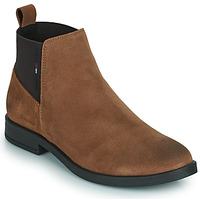 Shoes Women Mid boots Tommy Jeans ESSENTIALS CHELSEA BOOT Cognac