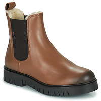 Shoes Women Mid boots Tommy Jeans WARMLINED CHELSEA BOOT Cognac