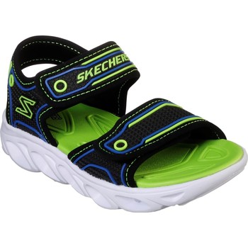 Shoes Boy Outdoor sandals Skechers 90522L-BBLM-300 Hypno-Flash 3.0 Sandal Black and Lime